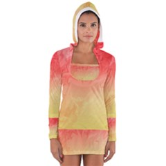 Ombre Orange Yellow Women s Long Sleeve Hooded T-shirt