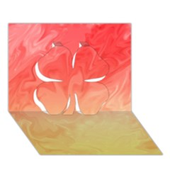 Ombre Orange Yellow Clover 3D Greeting Card (7x5)