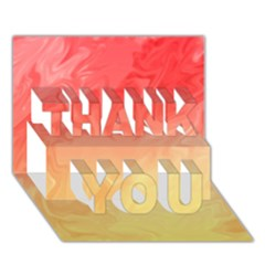 Ombre Orange Yellow THANK YOU 3D Greeting Card (7x5)