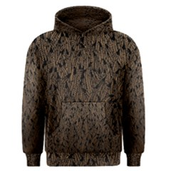 Brown Ombre Feather Pattern, Black,  Men s Pullover Hoodie