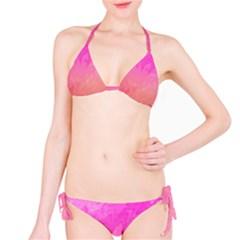 Ombre Pink Orange Bikini Set