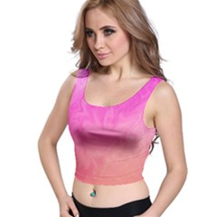 Ombre Pink Orange Crop Top