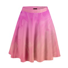 Ombre Pink Orange High Waist Skirt