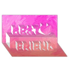 Ombre Pink Orange Best Friends 3D Greeting Card (8x4)