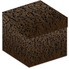 Brown Ombre Feather Pattern, Black, Storage Stool 12