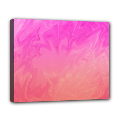 Ombre Pink Orange Deluxe Canvas 20  x 16