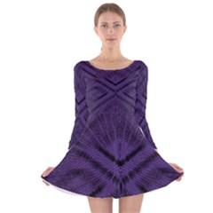 SLAVE Long Sleeve Velvet Skater Dress