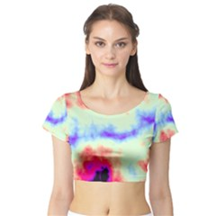 Calm Of The Storm Short Sleeve Crop Top (tight Fit)
