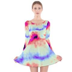 Calm Of The Storm Long Sleeve Velvet Skater Dress