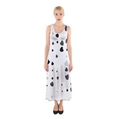 Black Hearts Sleeveless Maxi Dress