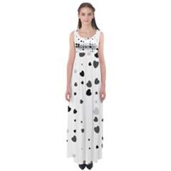 Black Hearts Empire Waist Maxi Dress