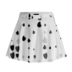 Black Hearts Mini Flare Skirt