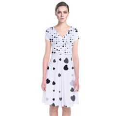 Black Hearts Wrap Dress