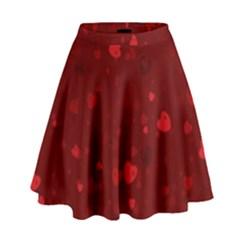 Glitter Hearts High Waist Skirt