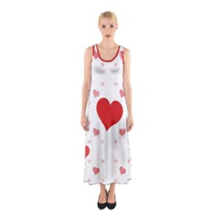 Centered Heart Sleeveless Maxi Dress