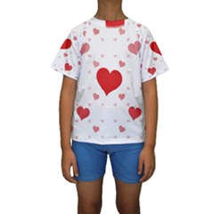Centered Heart Kid s Short Sleeve Swimwear