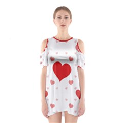 Centered Heart Cutout Shoulder Dress