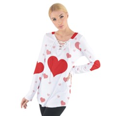 Centered Heart Women s Tie Up Tee