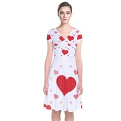 Centered Heart Wrap Dress