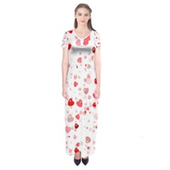 Bubble Hearts Short Sleeve Maxi Dress