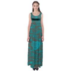 Camo Hearts Empire Waist Maxi Dress