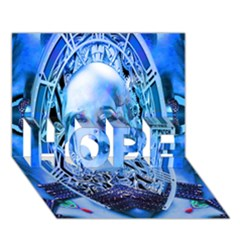 Clockwork Blue HOPE 3D Greeting Card (7x5)