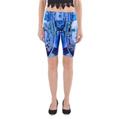 Clockwork Blue Yoga Cropped Leggings