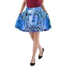 Clockwork Blue A-Line Pocket Skirt
