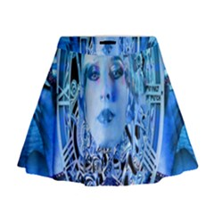 Clockwork Blue Mini Flare Skirt