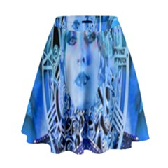 Clockwork Blue High Waist Skirt