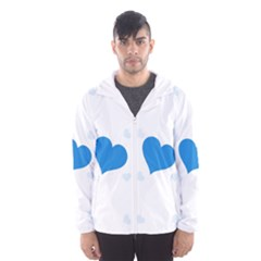 Blue Hearts Hooded Wind Breaker (Men)