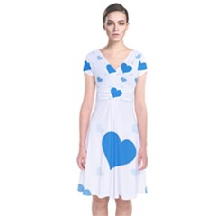 Blue Hearts Wrap Dress