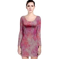 Grunge Hearts Long Sleeve Velvet Bodycon Dress