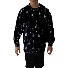 Black And White Hearts Hooded Wind Breaker (kids)