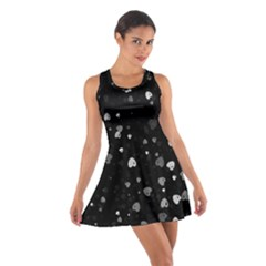 Black And White Hearts Racerback Dresses