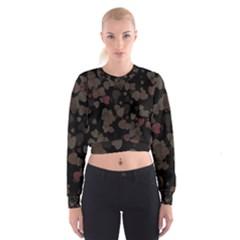 Olive Hearts Women s Cropped Sweatshirt