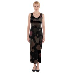 Olive Hearts Fitted Maxi Dress