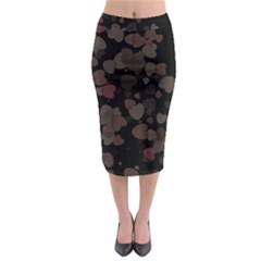 Olive Hearts Midi Pencil Skirt