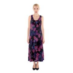Confetti Hearts Sleeveless Maxi Dress