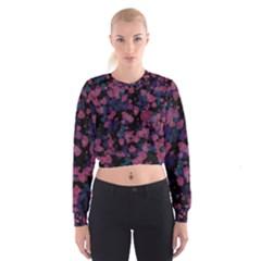 Confetti Hearts Women s Cropped Sweatshirt