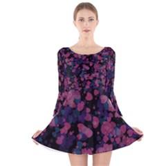Confetti Hearts Long Sleeve Velvet Skater Dress