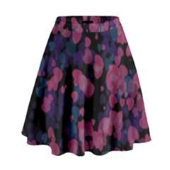 Confetti Hearts High Waist Skirt