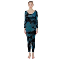 Turquoise Hearts Long Sleeve Catsuit