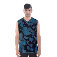 Turquoise Hearts Men s Basketball Tank Top