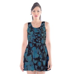 Turquoise Hearts Scoop Neck Skater Dress