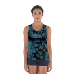 Turquoise Hearts Tops