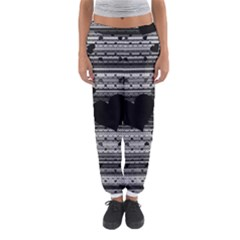 Black and Gray Abstract Hearts Women s Jogger Sweatpants