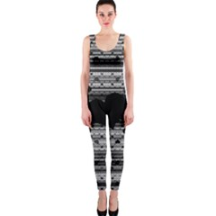 Black and Gray Abstract Hearts OnePiece Catsuit