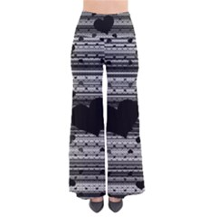 Black and Gray Abstract Hearts Pants
