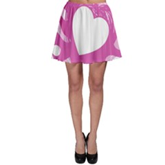 Hot Pink Love Skater Skirt